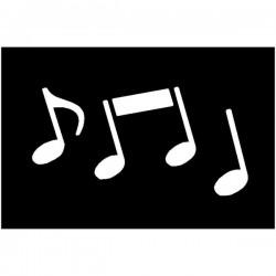 Brushing Music Notes