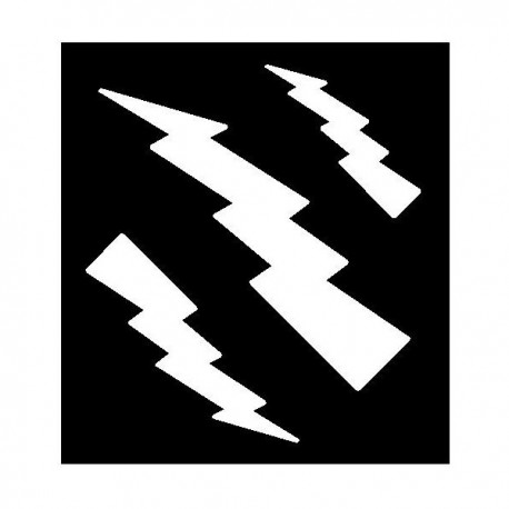 Clipping Assorted Lightning Bolts