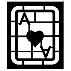 Clipping Ace of Hearts