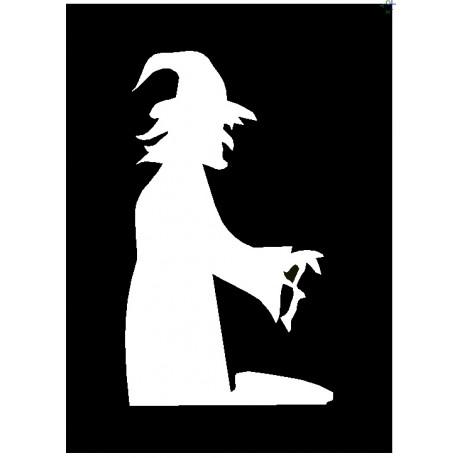 Brushing Witch And Cauldron